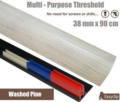 Washed Pine Laminate Threshold 38mmx0.90mtr Multi-Height & Pivot All Floor Types