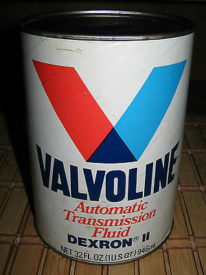 Valvoline Automatic Transmission Fluid 1 Quart Collectible Vintage Oil Can Nice