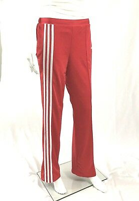 Vintage ADIDAS 1980's faded red track pants unisex mens small ladies medium