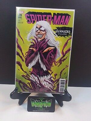Spider-Man #20 Venomized Villain Variant NM Marvel Comic Venomverse Black Cat