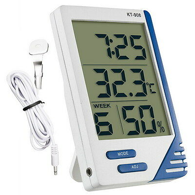 Digital Lcd Thermometer Hygrometer Hydroponics Humidity Meter Grow Room/tent