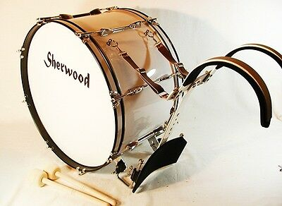 """22""""x12"""" Marching Bass Drum + Support Frame + Accessories"""