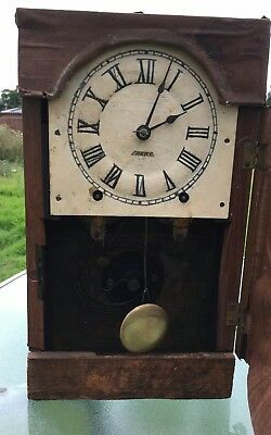 Vintage Seth Thomas 8 Day Spring Clock In Need Of Some TLC