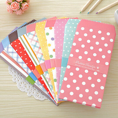 5Pcs/1Pack Colorful Envelope Small Gift Craft Envelopes for Letter Invitations ^