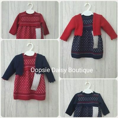Baby Girls Gorgeous Spanish Knitted Dress & Bolero Cardigan  - 2 piece Set ☆