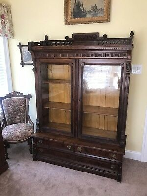 Antique Victorian Eastlake Bookcase c1880