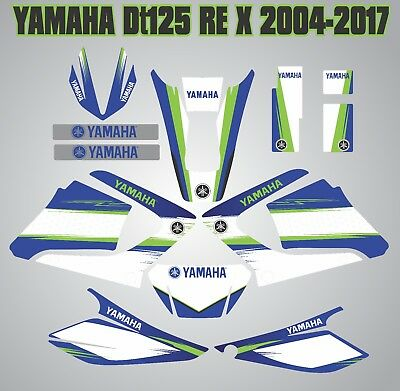 YAMAHA DTR 125RE FULL decals kit graphics DT125 X laminated stickers 2004-2017