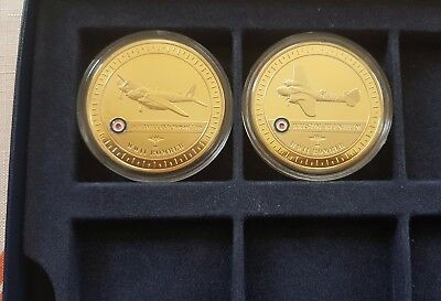 2 x BEAUTIFUL NUMISMATS Gold-Plated Medal 24ct Gold-Plated BRAND NEW / COA