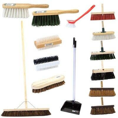 Yard Broom, Garden, Kitchen or Bathroom Brushes Bassine or Nylon Bristles