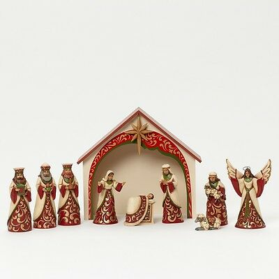 Our Blessed King Is Born 10 Piece Mini Nativity Set By Jim Shore - 4041092 NIB!!