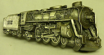1978 Bergamot Pewter 3D Belt Buckle Railroad Train Steam Engine 4-6-2 USA Made