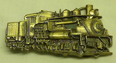 1983 Great American Belt Buckle Co Train RR Railroad Shay Steam Engine Made USA