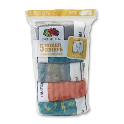 Fruit of the Loom Boys' Assorted Cotton Boxer Briefs (5, 10 or 15 Value Packs)