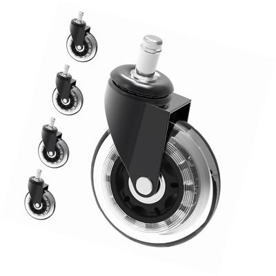 """3"""" Chair Caster Wheel Replacement Protecting Hard Wood Floor 