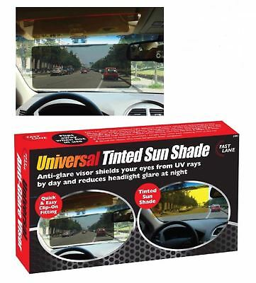 NEW Sun Visor Extension Shade Tinted Anti Dazzle Glare Reducer Clip On Fit