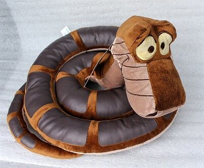 "The Jungle Book Kaa the Snake Plush 45"" Disney Store Authentic Coiled Mowgli NWT"