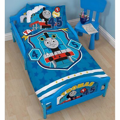 NEW Thomas & Friends Patch Junior Toddler Bed 77x146 cm - Blue