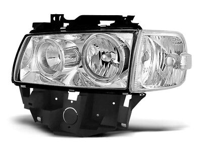 Paire de feux phares VW T4 96-03 bus angel eyes chrome (W27)