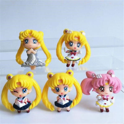 1pc Anime Sailor Moon Tsukino Usagi Plastic Action Figures Toy Mini Model Doll