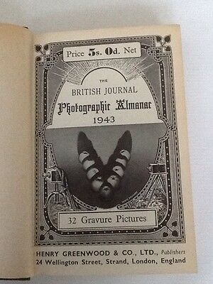 Rare Book - The BRITISH Journal Photographic Almanac 1943 Photography Cameras