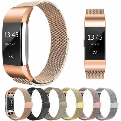 Newest Magnetic Milanese Stainless Steel Watch Band Strap For Fitbit Charge 2 UK