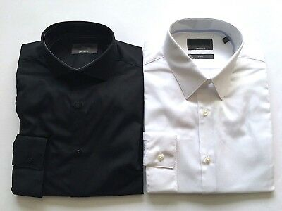 Mens Ex M&S Super Slim Fit Shirts Long Sleeves LIMITED EDITION Cotton 15-171/2