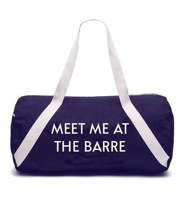 Private Party - MEET ME AT THE BARRE - Denim Gym Bag -Duffel Overnight Gift Idea