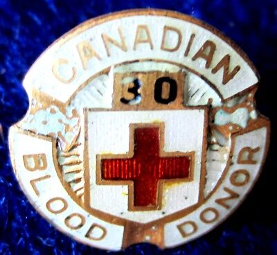 Canadian Blood Donor  sterling 30 pin