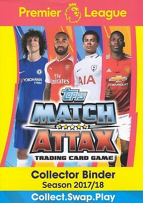 Topps Match Attax Premier League 2017 2018 Full 451 card set + ALL 11 100 CLUB