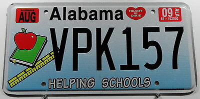 USA Nummernschild Alabama - Helping Schools mit Grafik. 12142.