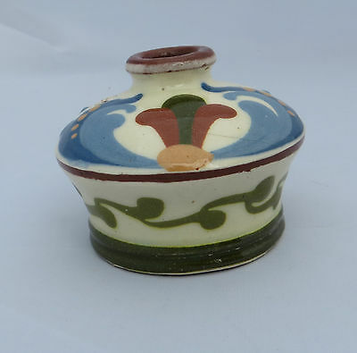 Aller Vale Torquay Motto Ware - Pottery Inkwell / Ink Well - Scandy 1501