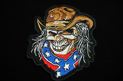 Small Size Cowboy Skull No425a Iron//Sew On Patch