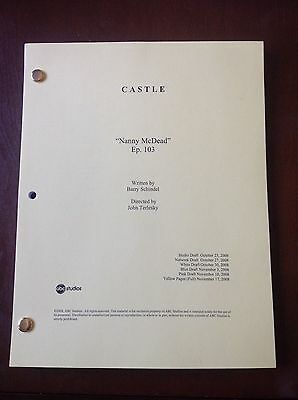 "CASTLE TV SHOW Script ""NANNY MCDEAD"" Episode #103, 58 Page NATHAN FILLION"