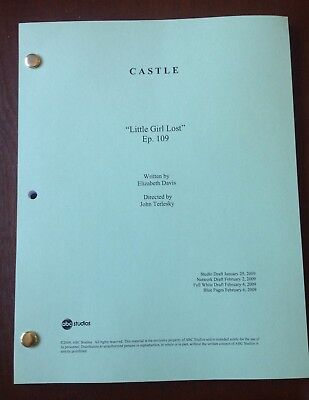 "CASTLE TV SHOW Script ""LITTLE GIRL LOST"" Episode #109, 59 Page NATHAN FILLION"