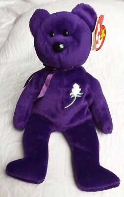 RARE Ty Beanie Baby PRINCESS Diana 1997 with ERROR - MWT!