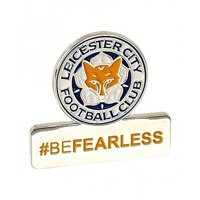 Leicester City Pin Badge Be Fearless Official Football Crest Enamel Metal FC New