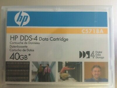 New Factory Sealed HP C5718A 4mm DDS-4 Data Tape Cartridge 20GB/40GB ONE dat40