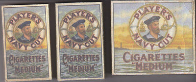 Ww2 Set Of 3 Useable British Players  Cigarette Packets (Repro)