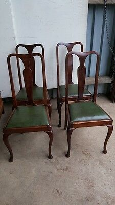 5 Queen Anne Leg 1940's Dining Chairs