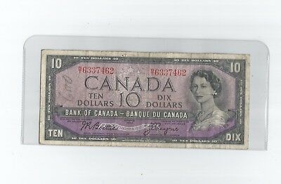 1954  Ten Dollar Bank Note From Canada