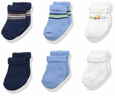 Gerber Baby Boys 6-Pack Variety Socks - Transportation