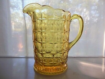 Tiara Indiana Glass Yellow Mist Constellation 50 ounce Pitcher