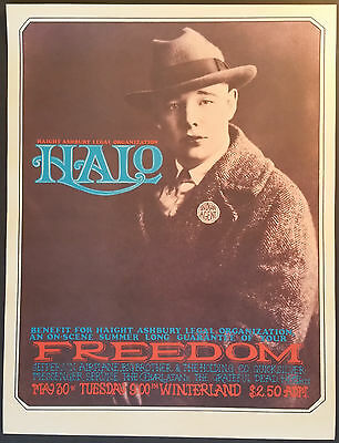 HALO benefit concert poster 1967 San Francisco Rick Griffin, Mouse & Kelley MINT