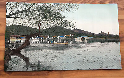 Village/Bridge by a Lake Tapestry - Ready for Framing (560)