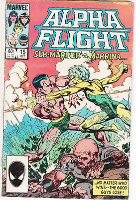 Alpha Flight  #15 1984 ''sub-Mariner-Vs-Marrina''  Byrne/ O'neil ...vg-