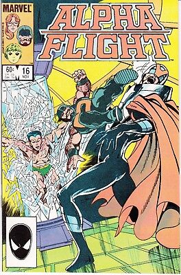 Alpha Flight  #16 1984 ''wolverine Cameo''  Byrne/ O'neil ...vf/nm