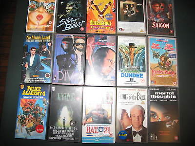 lotto n° 5 stock 15 VIDEOCASSETTE VHS IN INGLESE