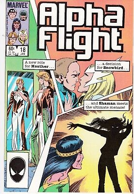 Alpha Flight  #18 1984 ''new Role Heather/snowbird/shaman''  Byrne/ O'neil ...vf