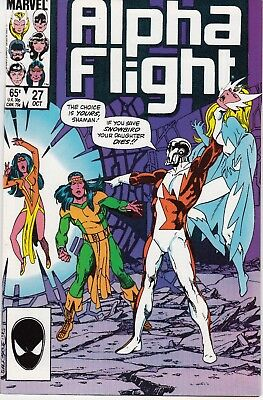 Alpha Flight  #27 1985 ''betrayal: Alpha Flight Gone''   Byrne/ O'neil...vf/nm