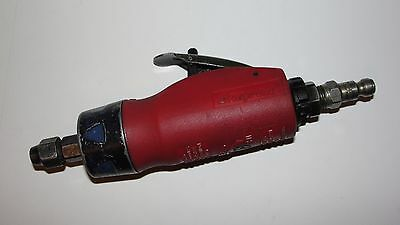 "Snap On Red Cushion Grip Air Die Grinder Tool PT200  22,000 RPM 1/4"" Collet  USA"
